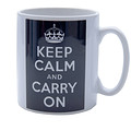 keep calm mug black