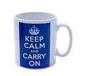 Keep Calm and Carry on Blue Mug