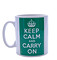 Keep Calm and Carry on Green Mug