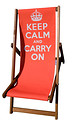 Keep Calm and Carry On Red Deckchair
