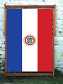 National flag of Paraguay World Cup Designer Wideboy Deckchair