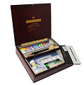 Artists' Water Colour Wooden Box Set - Large Tubes