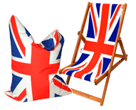 Union Jack Beanbag and deckchair